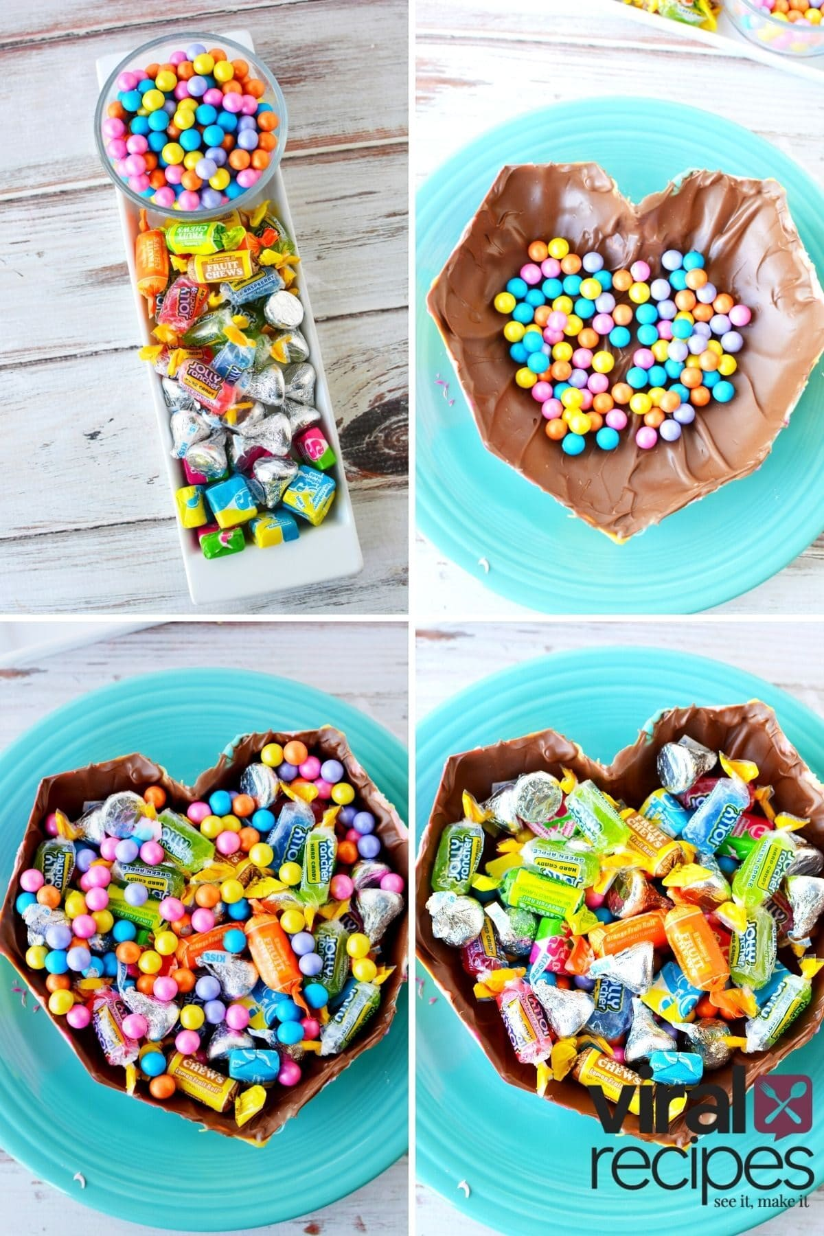 how to make a smash heart with goodies inside